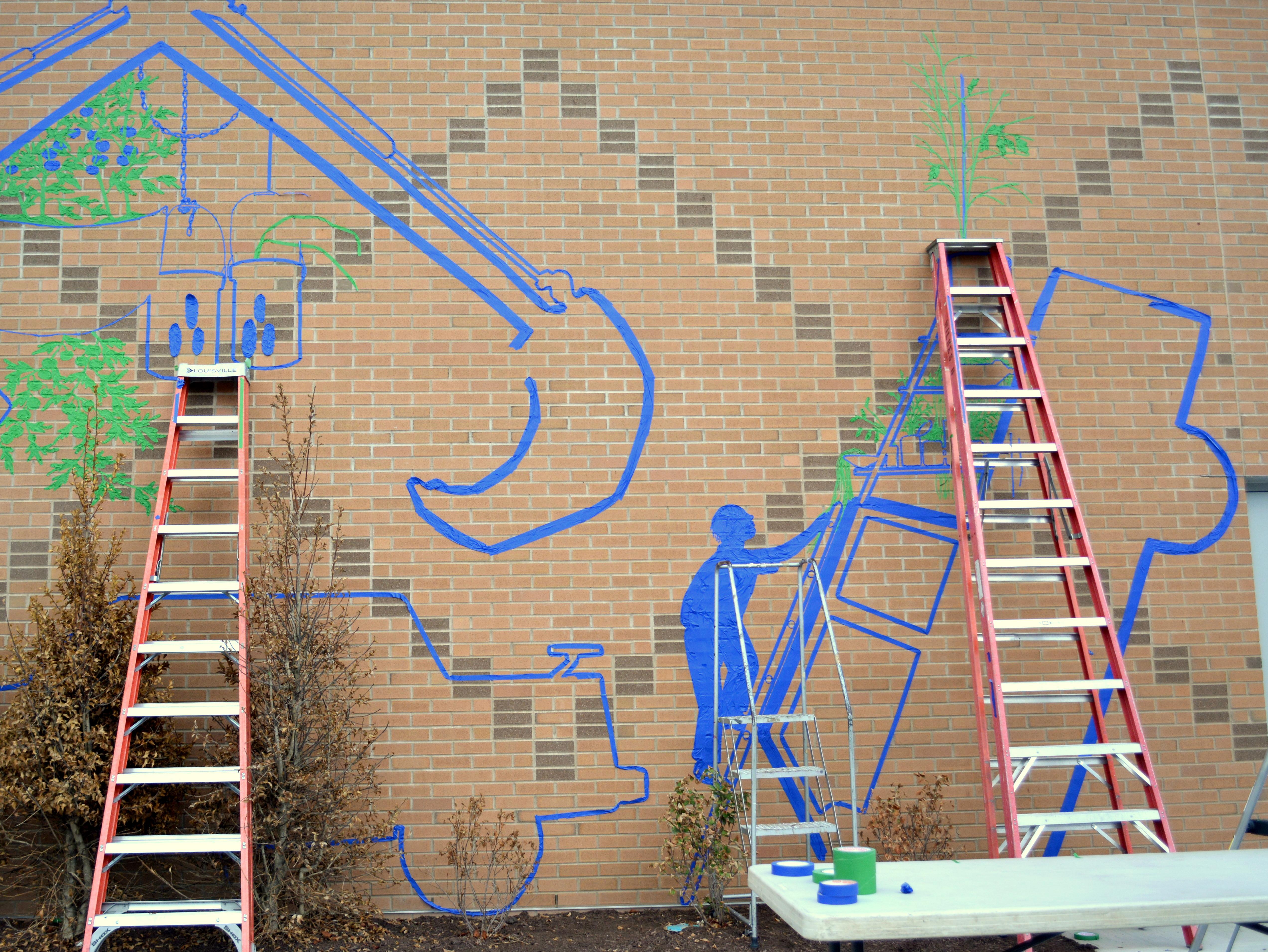 Community Corner: The Tape Art Crew Live Tape Mural