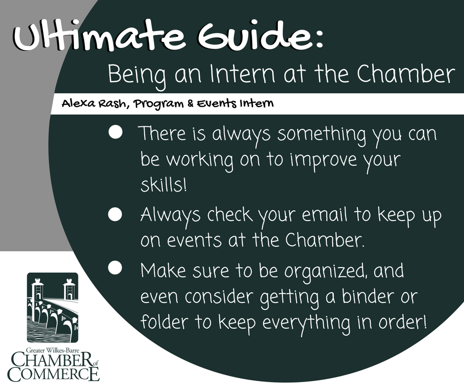 The Ultimate Guide to Being a GWB Chamber Intern: Alexa Rash