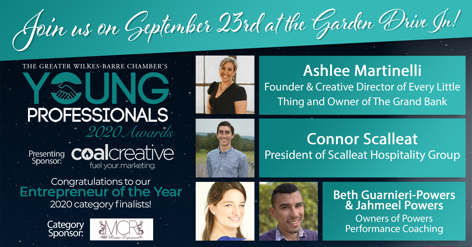 Meet the 2020 Young Professionals Category Finalists for Entrepreneur of the Year!