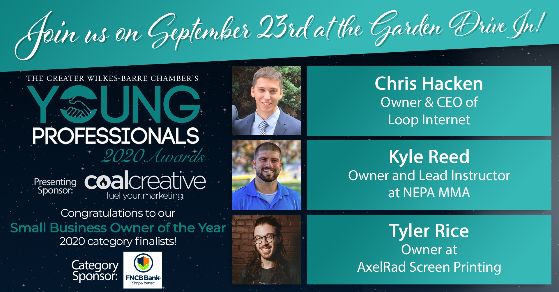 Meet the 2020 Young Professionals Category Finalists for Small Business Owner of the Year!