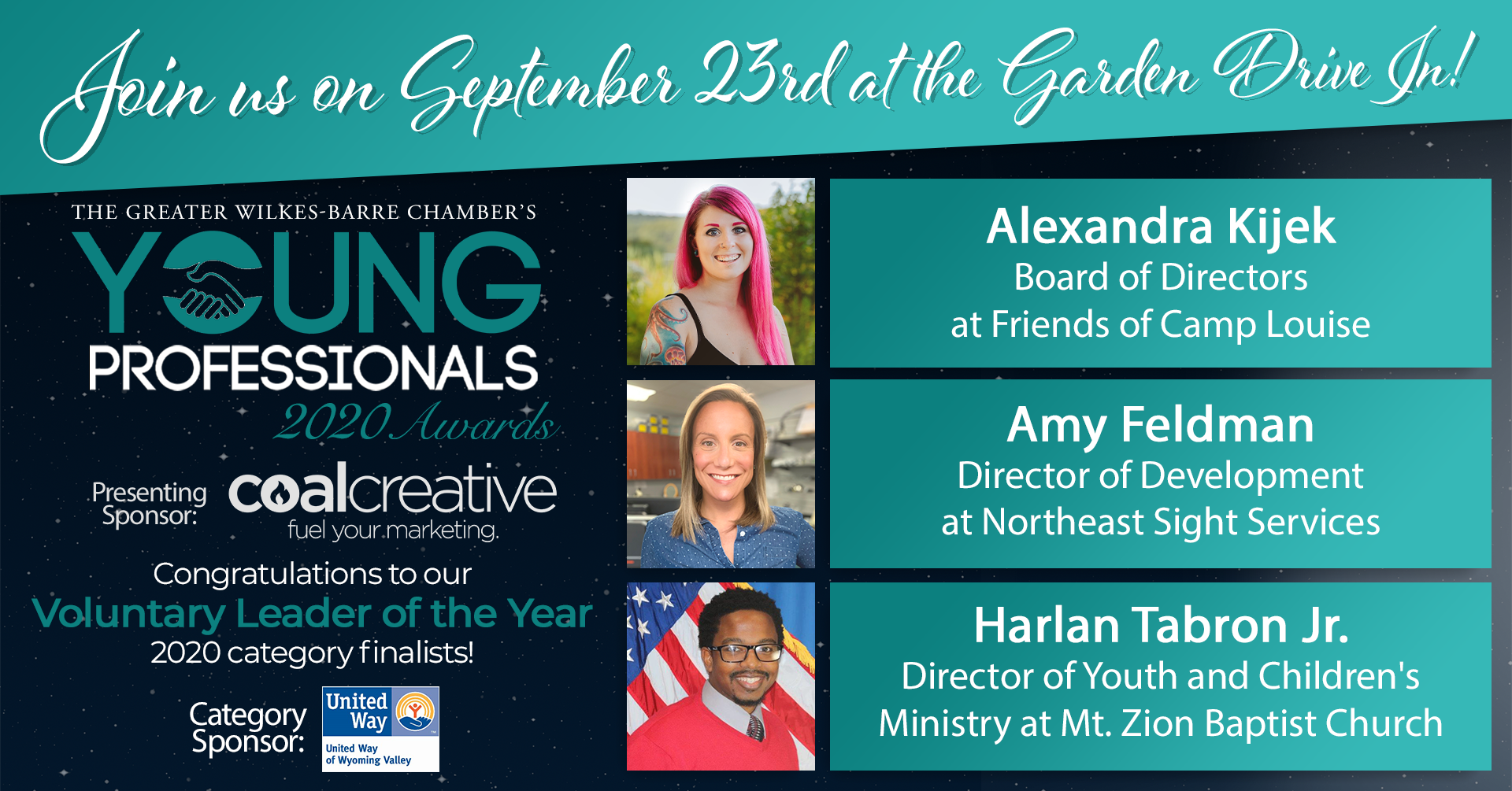 Meet the 2020 Young Professionals Category Finalists for Voluntary Leader of the Year!