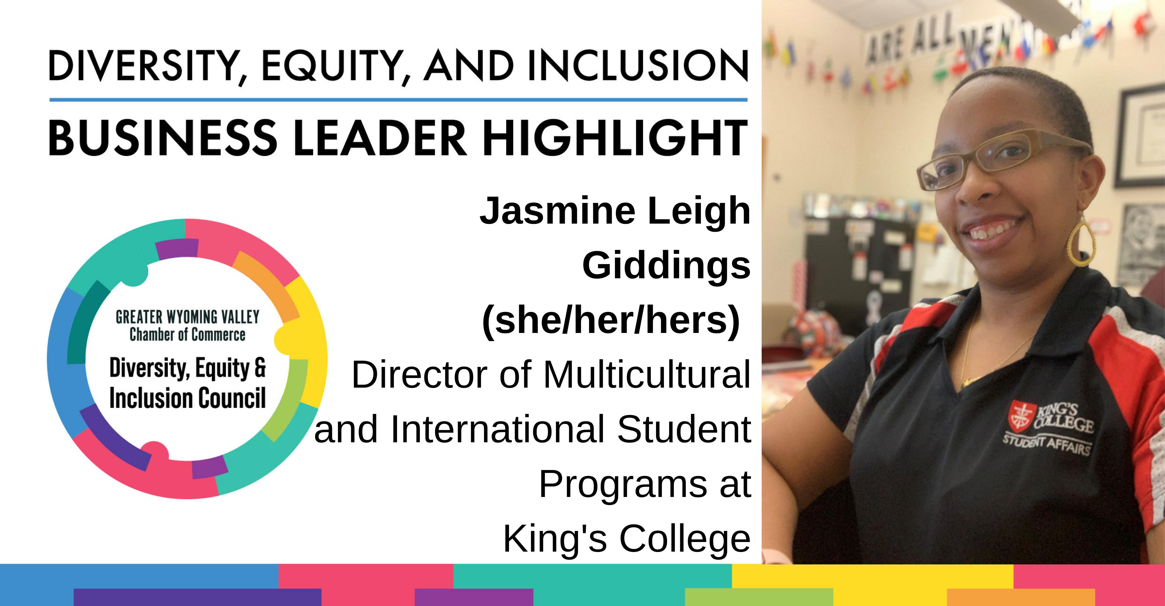 Diversity Month Highlight: Jasmine Leigh Giddings