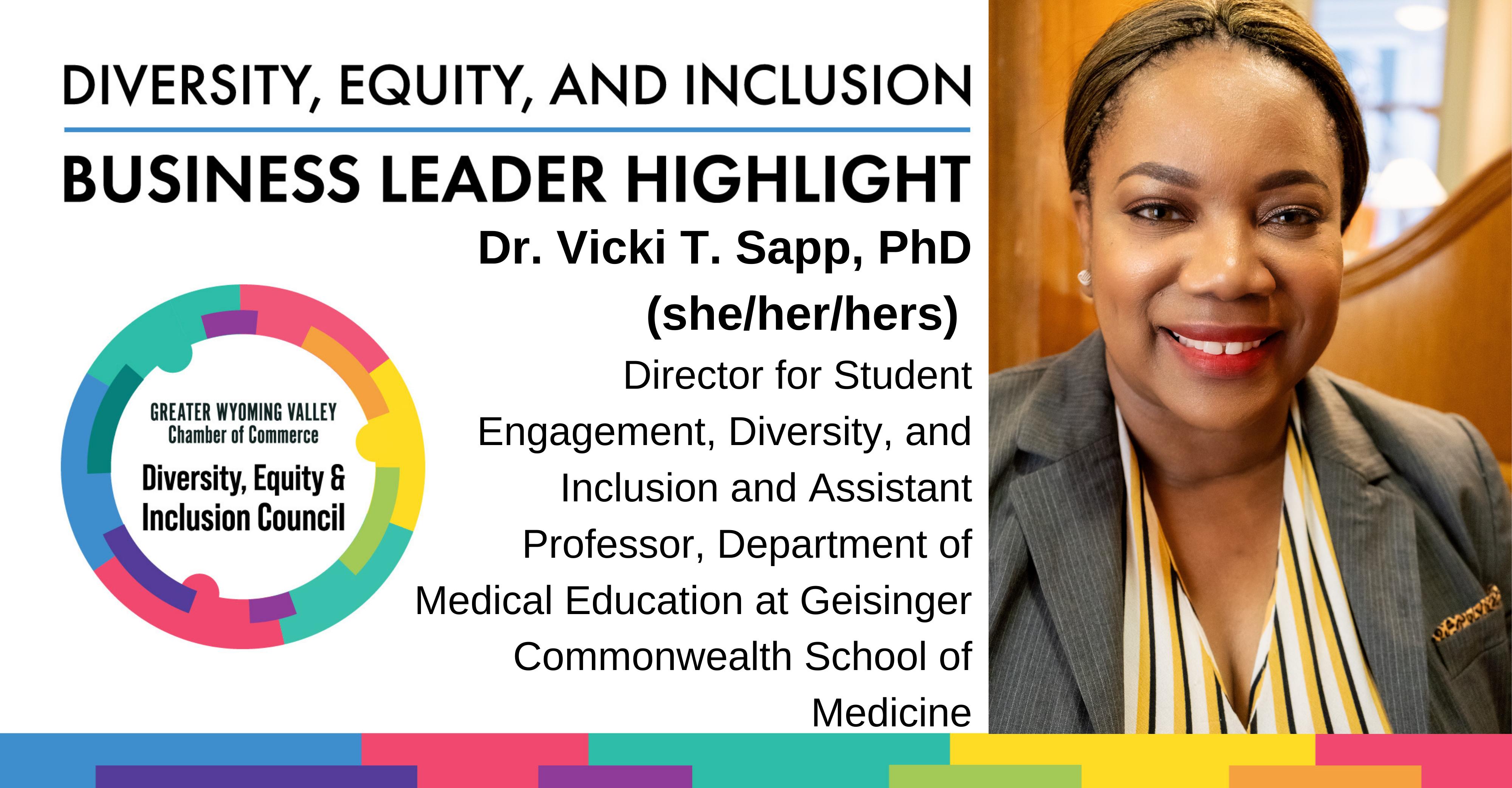 Diversity Month Highlight: Dr. Vicki T. Sapp, PhD