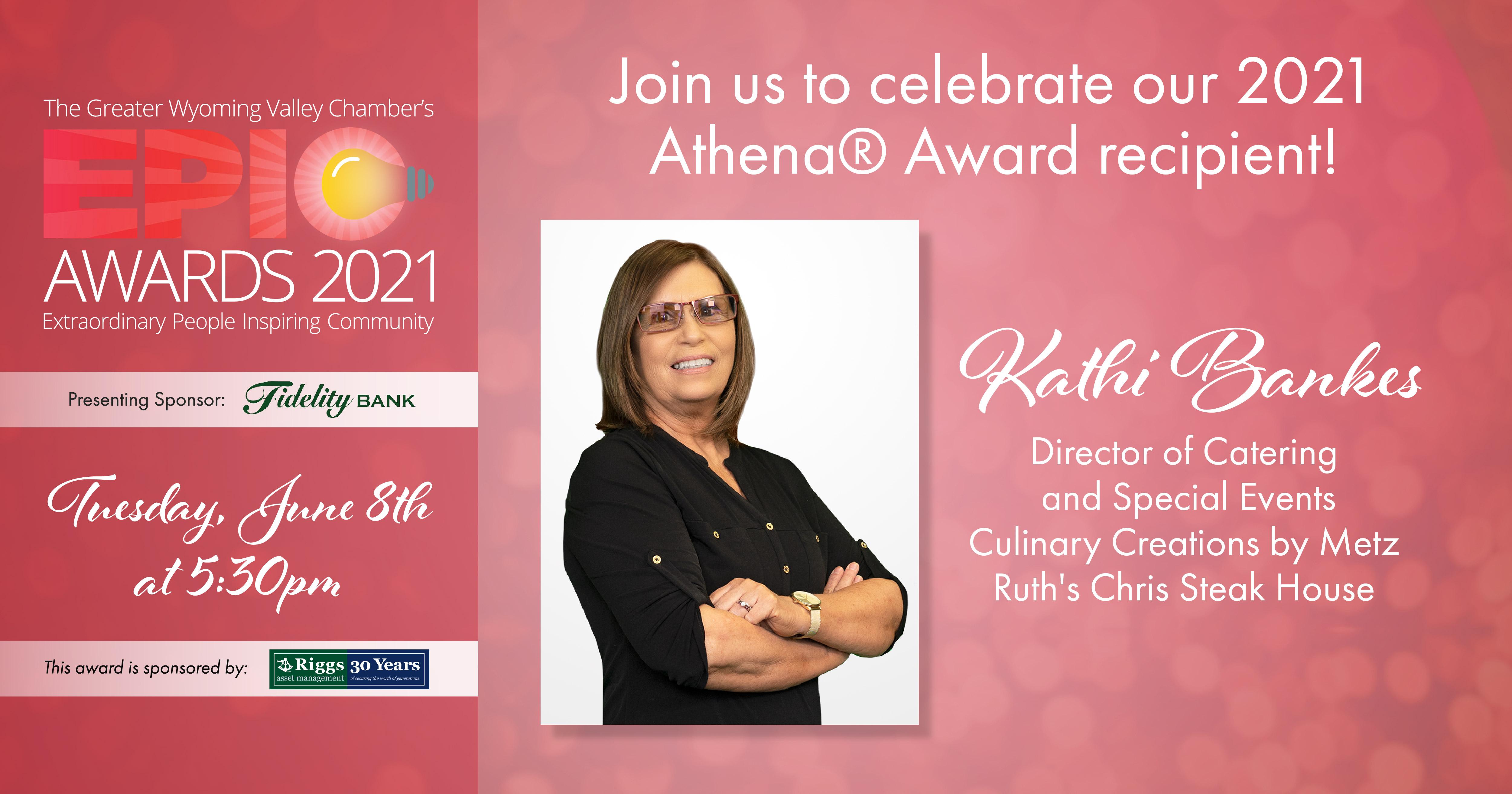 Image for Meet Our 2021 Athena® Award Recipient: Kathi Bankes!