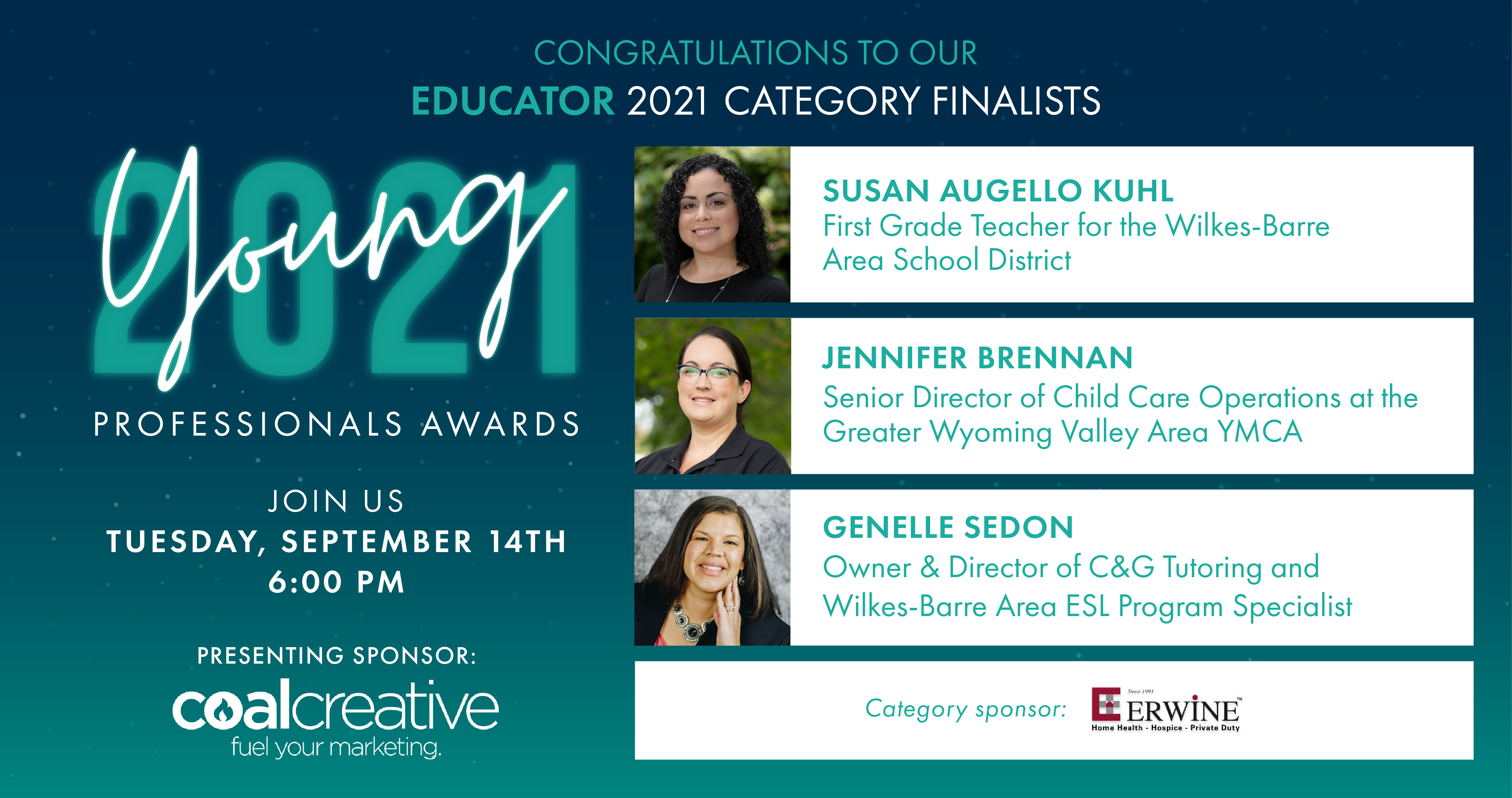Image for Meet the 2021 Category Finalists for Young Professional Educator of the Year!