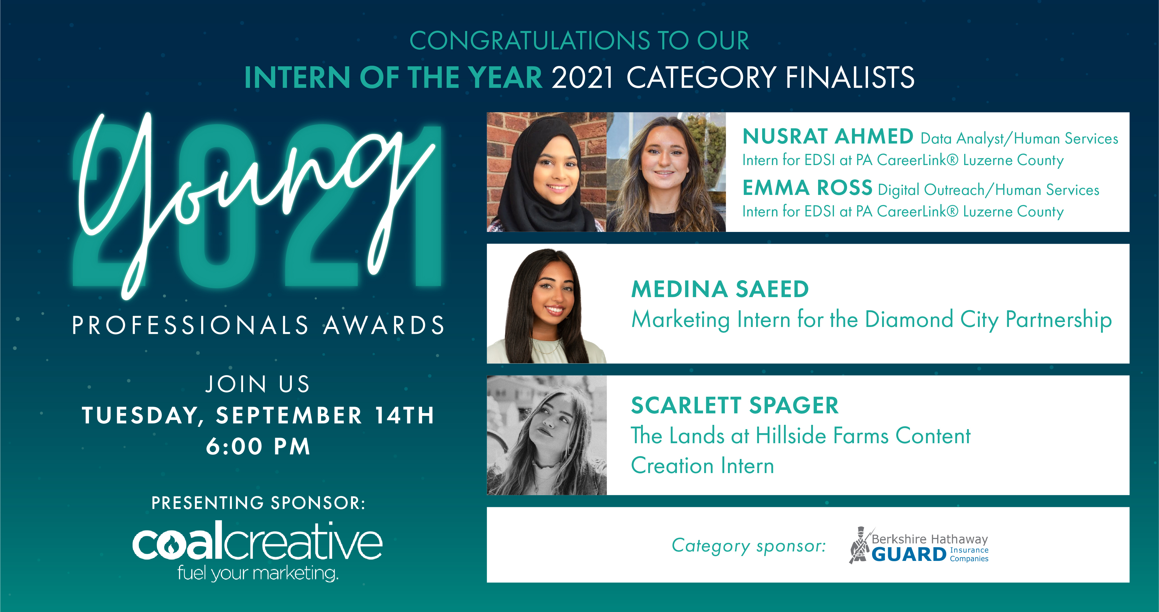 Image for Meet the 2021 Category Finalists for Young Professional Intern of the Year!