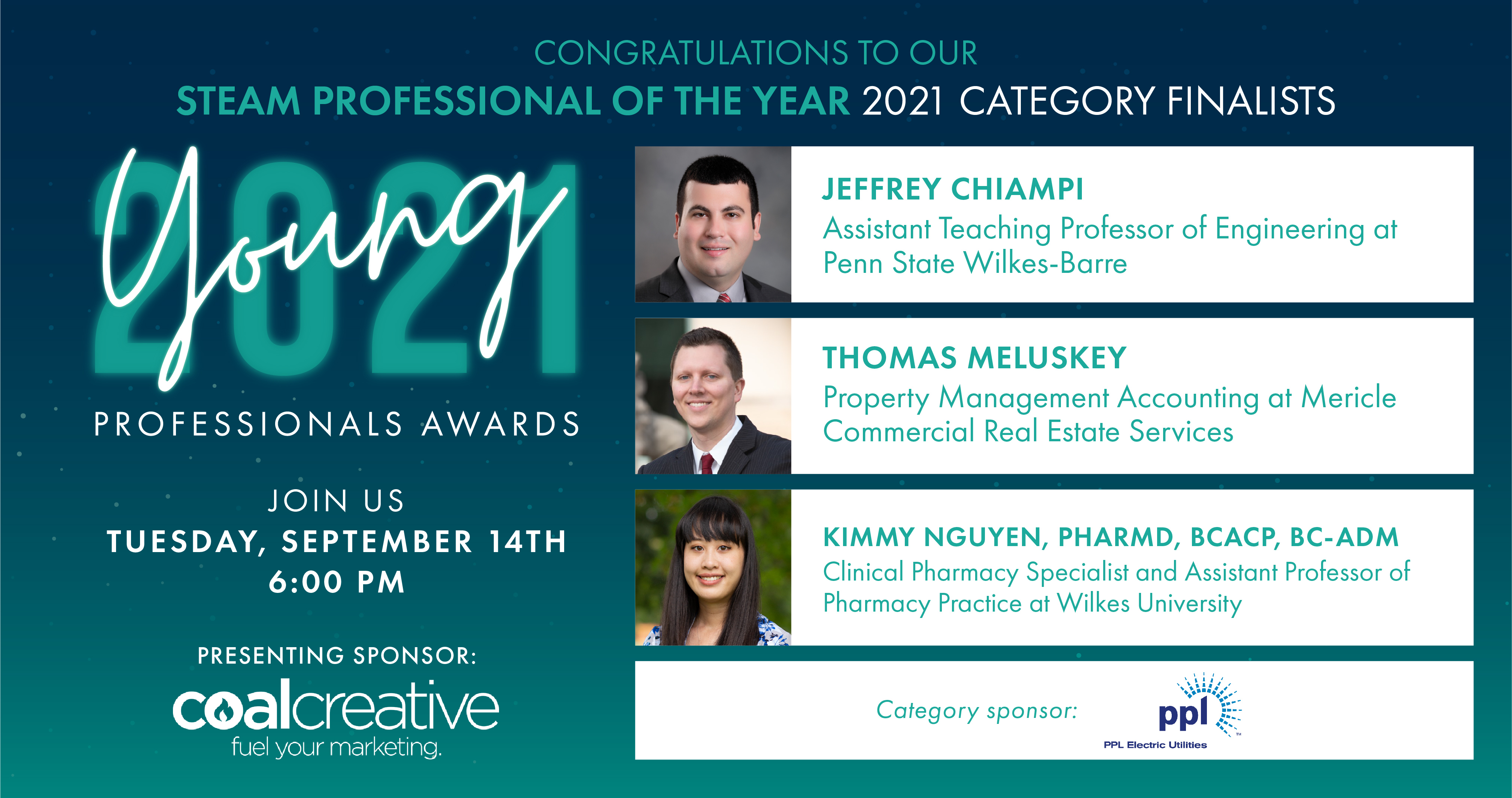 Image for Meet the Category Finalists for Young Professional STEAM Professional of the Year!