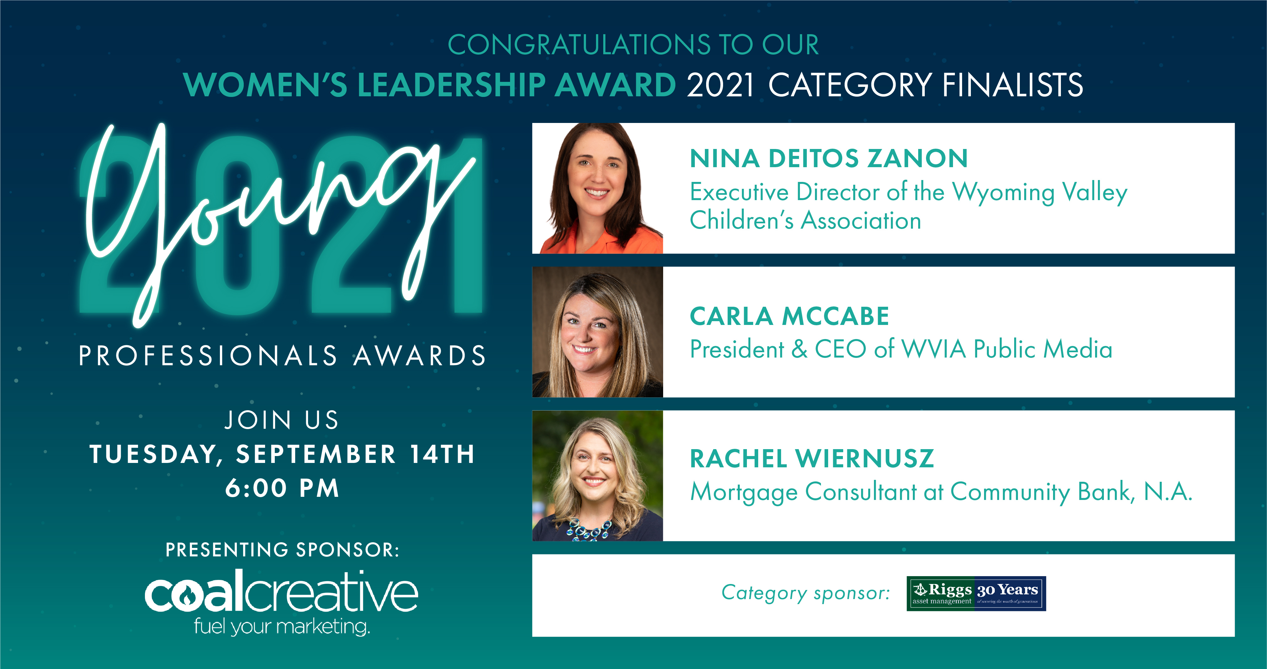 Image for Meet the 2021 Finalists for the Young Professional Women's Leadership Award!