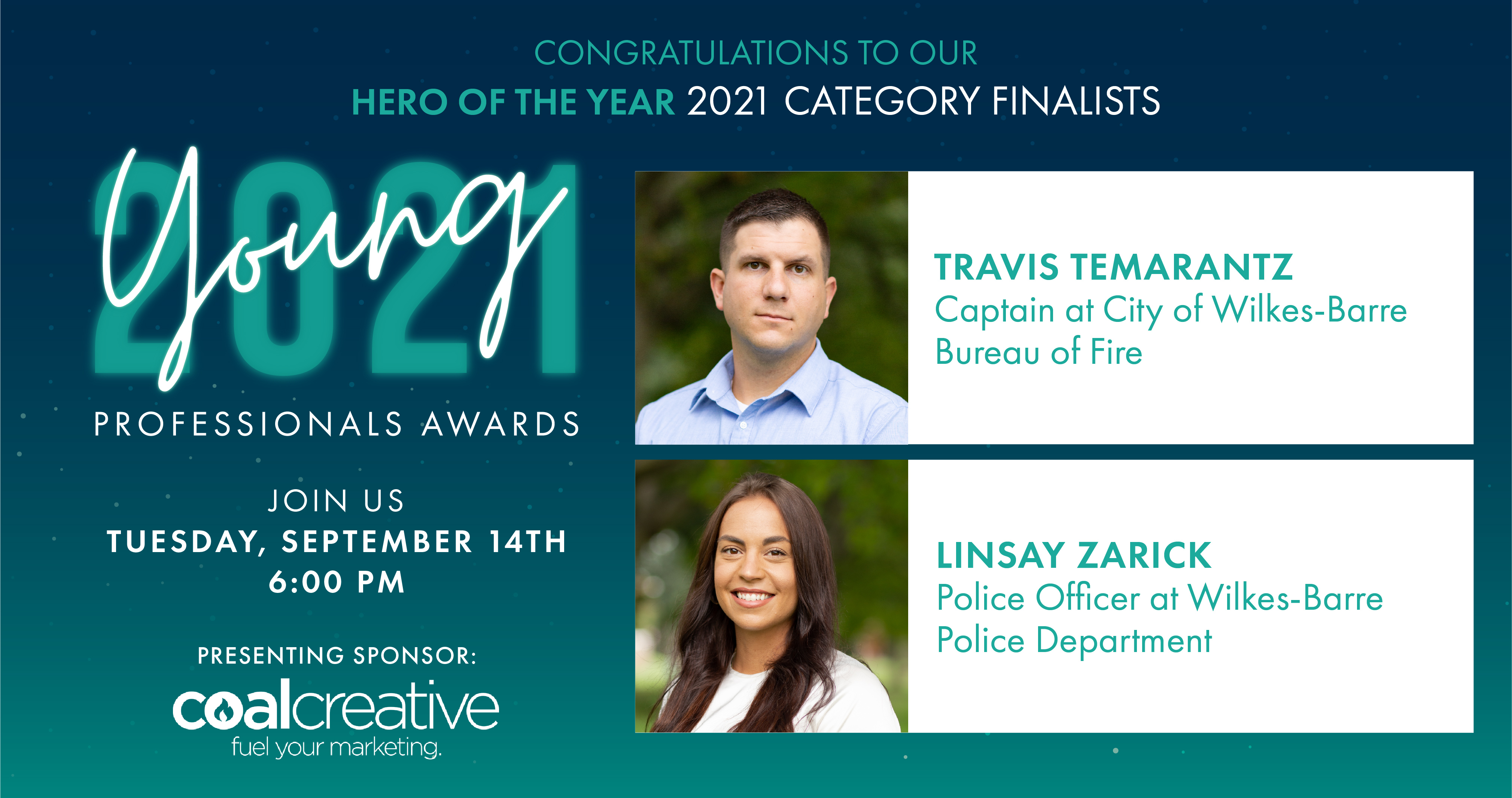 Image for Meet the 2021 Category Finalists for Young Professional Hero of the Year!