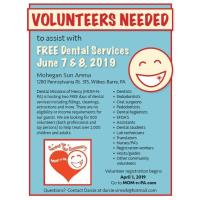 Dental Missions of Mercy (MOM-N-PA) presents Free Dental Services