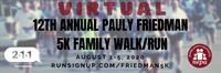 Virtual Pauly Friedman 5K Family Walk/Run