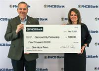FNCB Bank Donates $5,000 to Diamond City Partnership