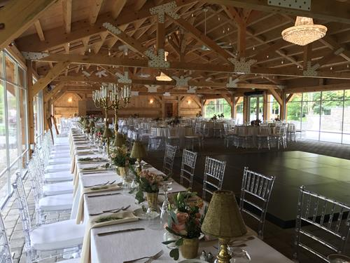 pavilion head table