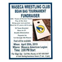 Waseca Wrestling Club  Bean Bag Tournament Fundraiser