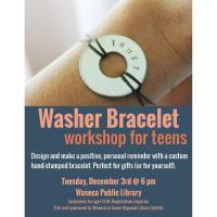 Washer Bracelet workshop for Teens- Waseca Public Library