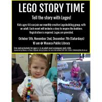 Lego Story Time-October- Waseca Public Library
