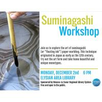 Suminagashi Workshop- Elysian Area Library