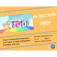 My Little Pony Party- Waseca Public Library