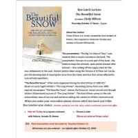 Waseca Historical Society- Box Lunch Lecture- The Beautiful Snow