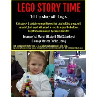 Lego Story Time-April @ Waseca Public Library
