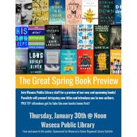 The Great Spring Book Preview @ Waseca Public Library