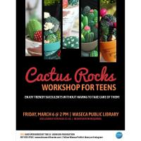 Cactus Rocks Workshop for Teens @ Waseca Public Library