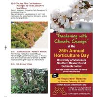 """26th Annual Horticulture Day in Waseca """"Gardening with Climate Change"""""""