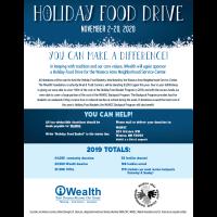iWealth Holiday Food Drive 2020