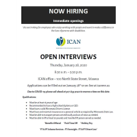 ICAN, Inc. of Waseca OPEN INTERVIEWS