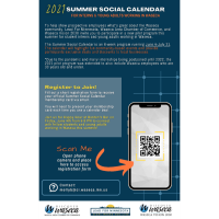 Waseca Summer Social Calendar for Student Interns & Young Adults working in Waseca