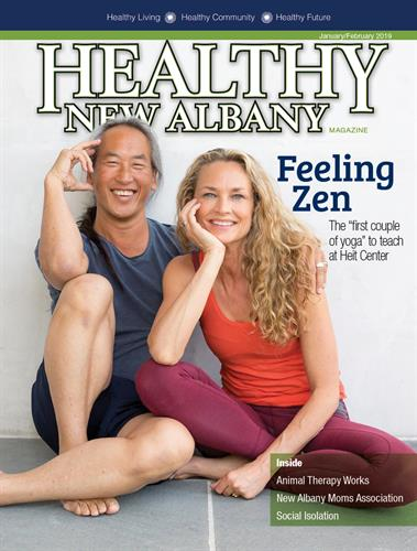 Famous faces appear on HNA covers, like the professional yoga instructors the Yee's - issue January/February 2019
