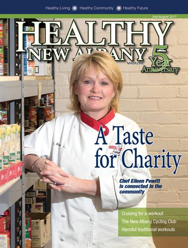Healthy New Albany Magazine celebrates 5 years in 2017 - issue July/August 2017