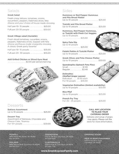 Catering Order