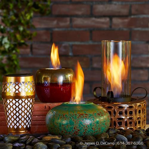 Outdoozie flame pots
