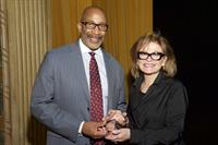 Alliance chair DJ Wilson with the William S. Naito Outstanding Service Award honoree, Charles Wilhoite.