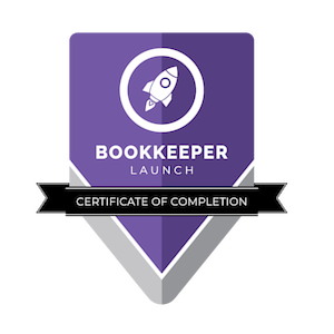 Bookkeeper Launch Certificate of Completion