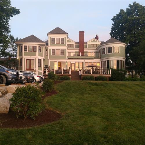 Rear view of the Saltair Inn Waterfront Bed and Breakfast