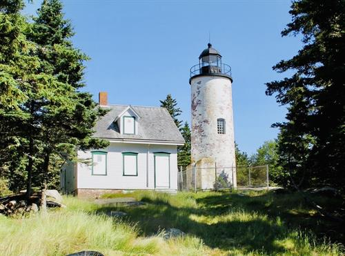 Walk up to and learn about Baker Island Lighthouse!