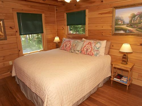 Log Chalet King Bedroom