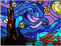 Starry Night Stained Glass Mosaic make n TakeStarry Night Stained Glass Mosaic,