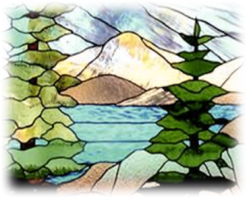 Mosaic the Mountains- Color with Glass!