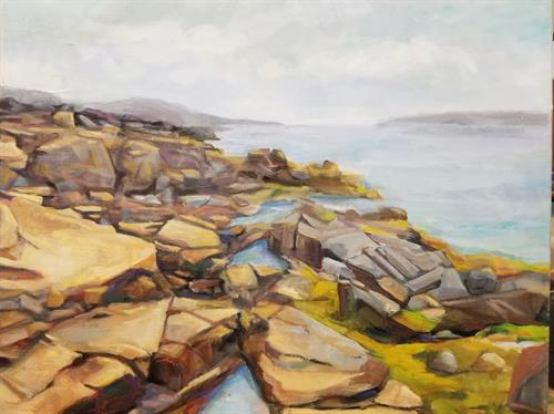 Paint the Park, Acadia shore path