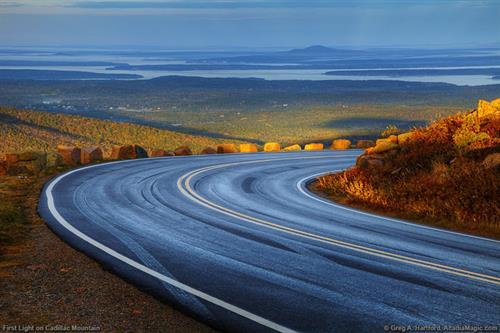 Coming down Cadillac Mountain