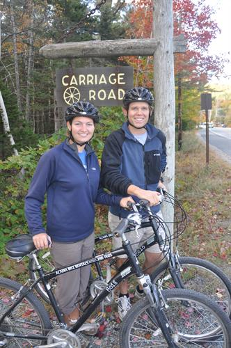 The Bar Harbor Express Shuttle will drop your crew off at the Eagle Lake Carriage Road entrance from the Bar Harbor Village Green.  The shuttle runs June 23 - September 30.