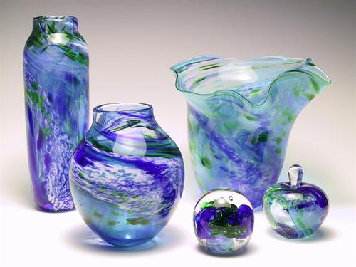 Unique Hand Blown glass from Ken and Linda Perrin