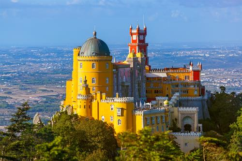 Stunning Pena Palace in Sintra, Portugal