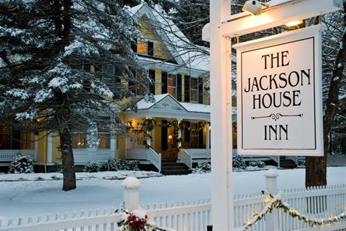 Jackson House Inn in winter