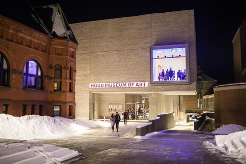 The Hood Museum of Art north façade.