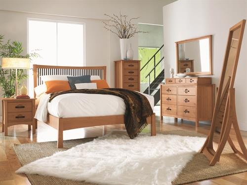 Berkeley Bedroom in solid Cherry