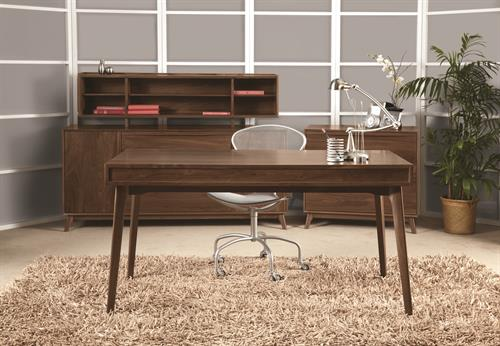 Catalina Home Office in solid Walnut